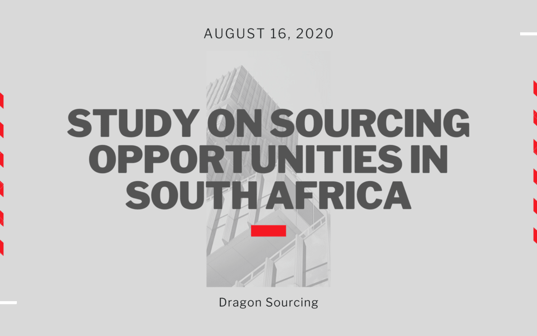Study on Sourcing Opportunities in South Africa